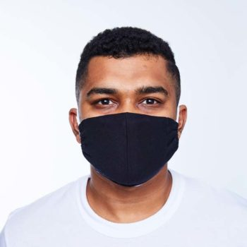 black reusable cotton mask