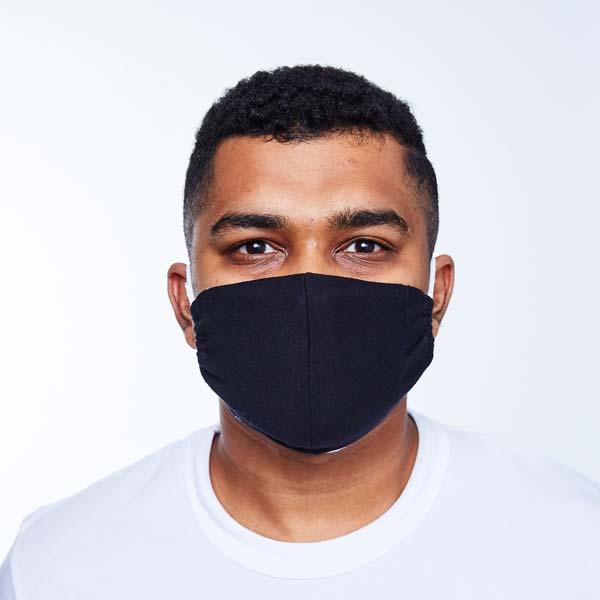 black reusable cotton mask