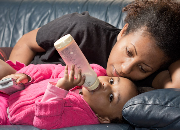 Stopping the night time feeds in the older toddler