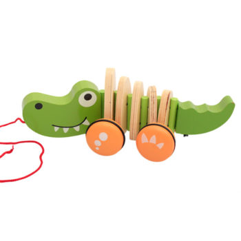wooden croc pull toy