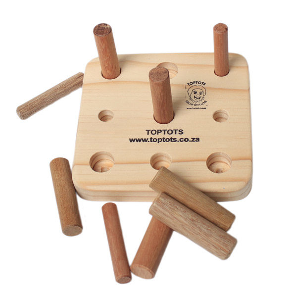 wooden peg board different size pegs